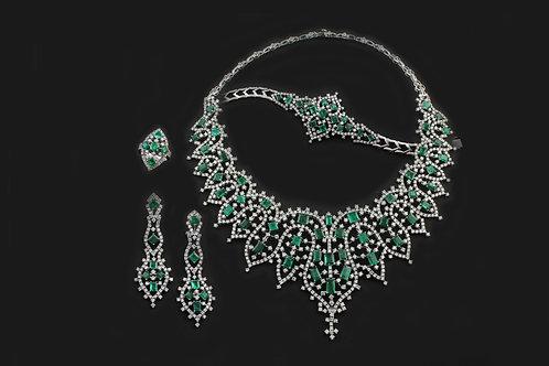 Emerald and Diamond Designer Set
