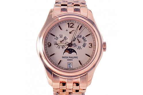 Patek Philippe Complications Annual Calendar Moon Phase Cream Dial 39mm Rose Gol