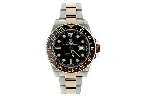 Rolex GMT Master 2 Black Dial Steel and Everose Gold
