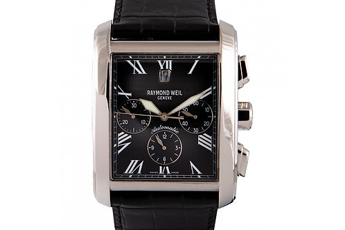 Raymond Weil Don Giovanni Cosi Grande Chronograph Black Dial 37.6mm Steel