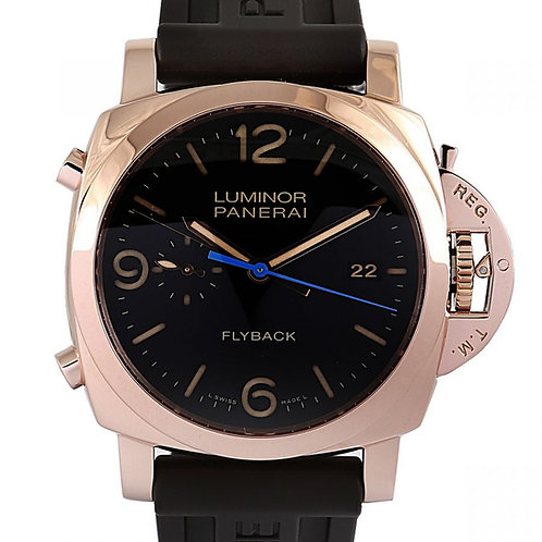 Panerai Luminor 1950 3 Days Chrono Flyback Black Dial 44mm Rose Gold
