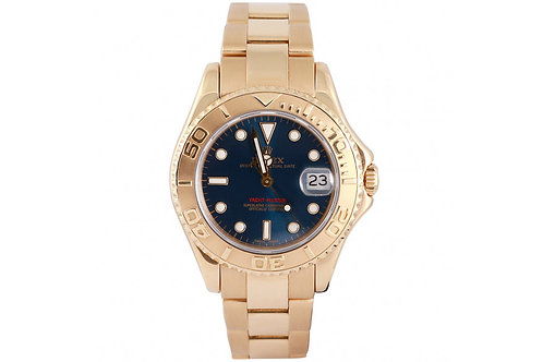 Rolex Yacht Master Yellow Gold and Blue Dial