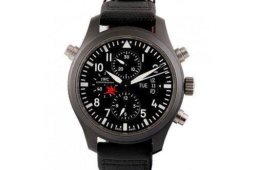IWC Pilot's Watch Top Gun Chronograph Black Dial 44mm Black Titanium