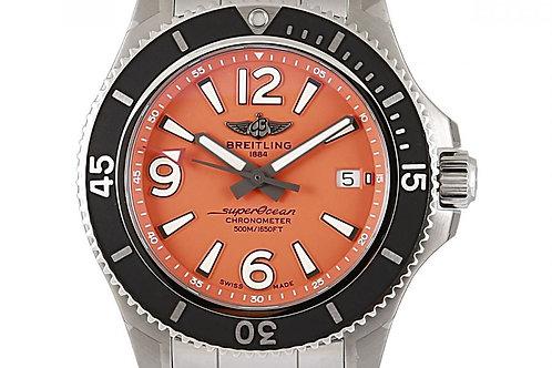 Breitling Superocean Orange Dial 42mm Steel