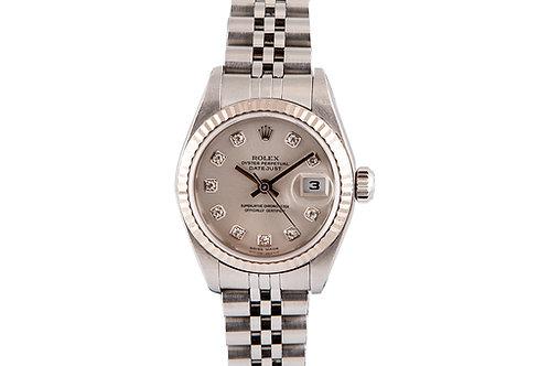 Rolex Datejust 26mm Silver Diamond Dial