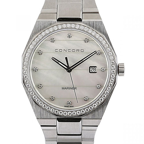 Concord Mariner Mother Of Pearl Diamond Dial Steel 41mm