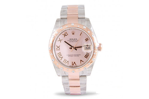 Rolex Datejust 31 Steel, Rose Gold & Diamonds