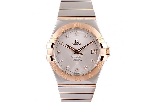 Omega Constellation Co-Axial 35mm Steel & Rose Gold