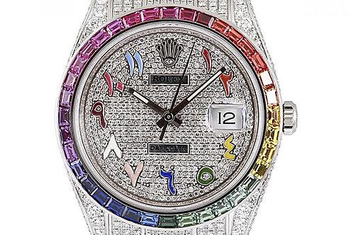 Rolex Datejust 41mm Ice Diamond Dial & Bracelet Steel