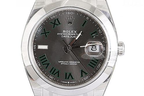 Rolex Datejust Wimbledon Dial 41mm Steel