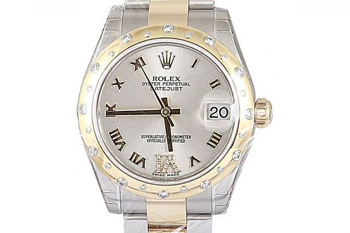 Rolex Datejust Silver Roman Numeral Dial Steel & Yellow Gold 31mm