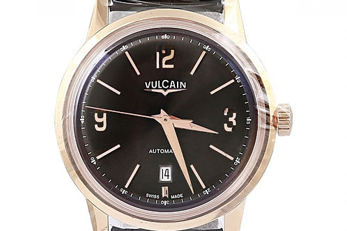 Vulcain 50s President's Classic Black Dial 42mm Rose Gold