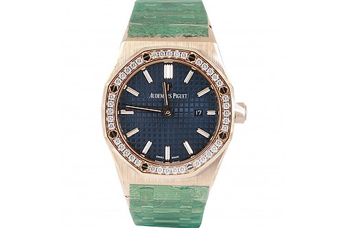 Audemars Piguet Royal Oak Blue Dial 33mm Yellow Gold & Diamonds