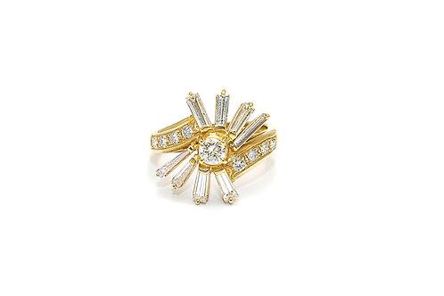 Star Designed Diamond Ring