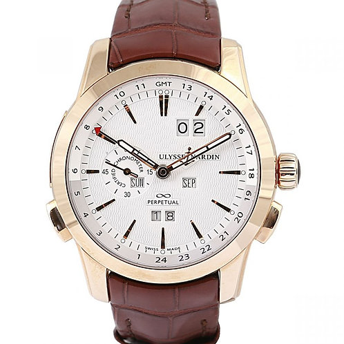 Ulysse Nardin Perpetual Manufacture Chronometer Limited Edition Silver Dial 43mm
