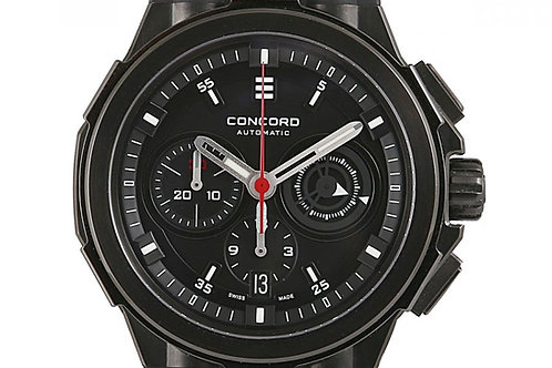 Concord C2 Chronograph Black Dial 43mm PVD Steel