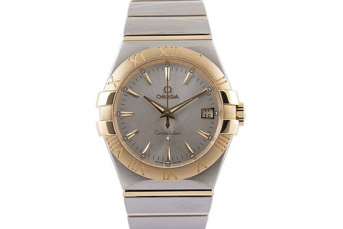 Omega Constellation Silver Dial 34mm Steel & Yellow Gold