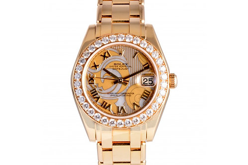 Rolex Datejust Pearlmastser Dream Roman Dial 34mm Yellow Gold & Diamonds
