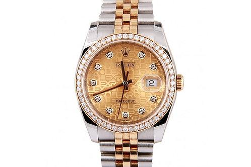 Rolex Datejust Jubilee Champagne Diamond Dial 36mm Steel, Yellow Gold & Diamonds