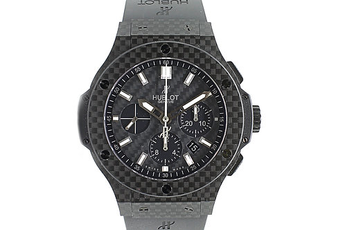 Hublot Big Bang 44mm Carbon Fiber with Rubber Strap