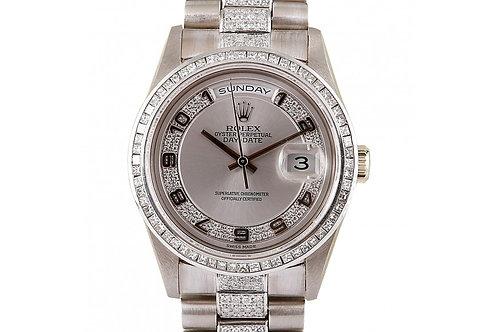 Rolex Day-Date President Diamond Dial 36mm White Gold & Diamonds