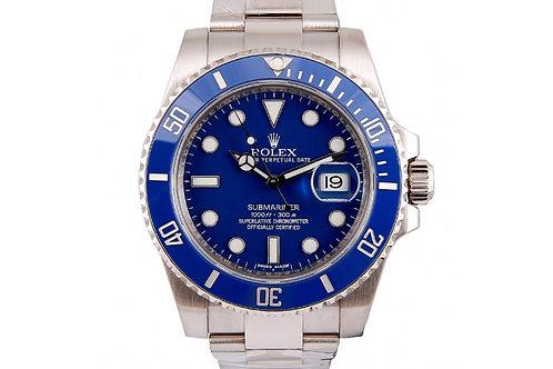 Rolex Submariner Blue Dial 40mm White Gold