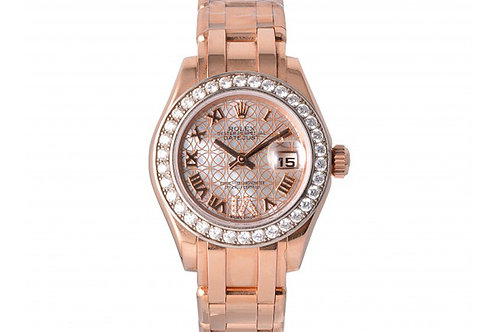 Rolex Datejust Pearl-Master Mother of Pearl Dial With Roman Index 29mm Rose Gold