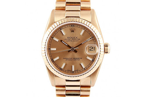 Rolex Datejust President Champagne Dial 31mm Yellow Gold