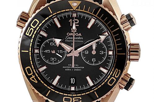 Omega Seamaster Planet Ocean 600M Chronograph Black Dial 45.5mm Sedna Gold