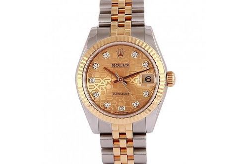 Rolex Datejust Champagne Jubilee Diamond Dial 31mm Steel & Yellow Gold