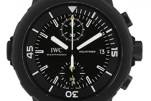 "IWC Aquatimer Chronograph ""Galapagos Islands"" Edition Black Dial Steel 45mm"