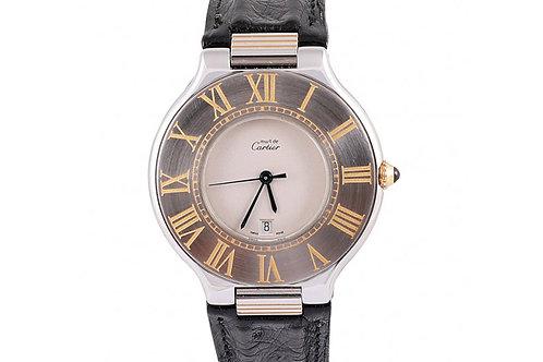 Cartier De Must 21 35mm Steel & Leather