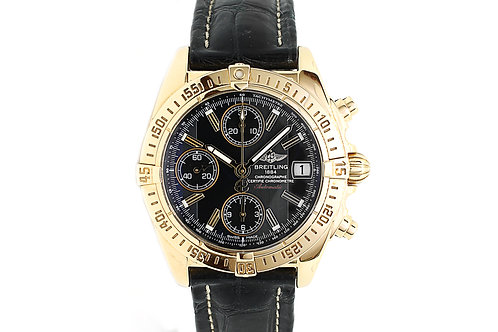 Breitling Cockpit Chronograph Yellow Gold with Leather Strap 39mm