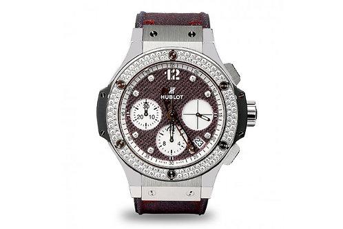 Hublot Big Bang Purple Jeans Steel with Diamonds