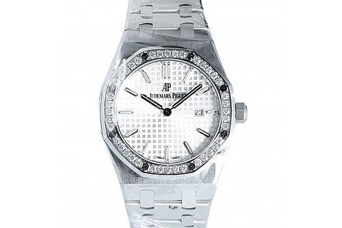 Audemars Piguet Royal Oak Quartz Silver Dial 33mm Steel & Diamonds