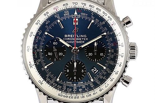 Breitling Navigier 1 B01 Chronograph Blue Dial 43mm Steel