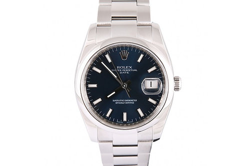 Rolex Oyster Perpetual Blue Dial 34mm Steel