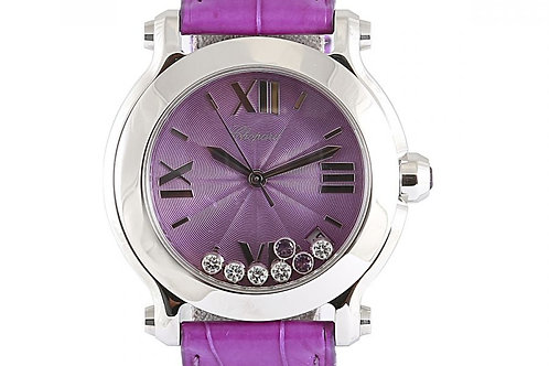 Chopard Happy Sport Purple Amethyst Dial 36mm Steel & Diamonds
