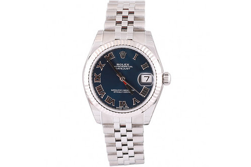 Rolex Datejust Blue Roman Dial 31mm Steel & White Gold
