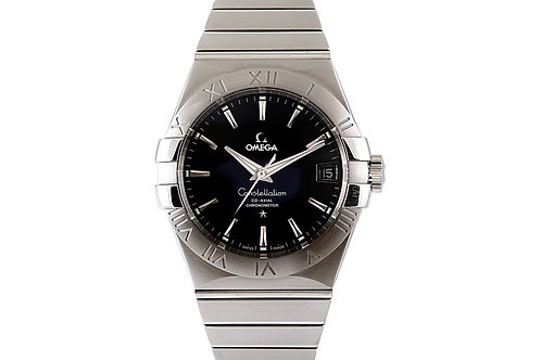 Omega Constellation Co-Axial Steel with Black Dial