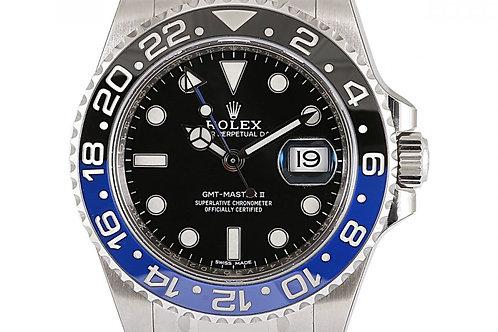 Rolex GMT Master 2 Batman Black Dial 40mm Steel