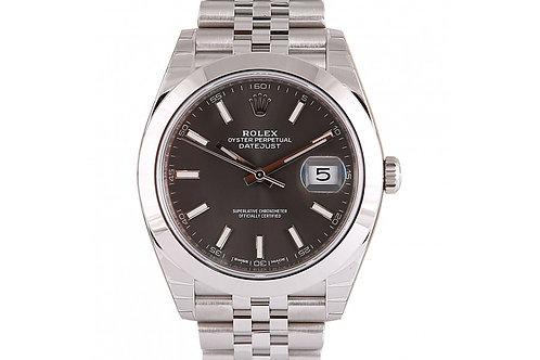 Rolex Datejust 41 Grey Dial Steel