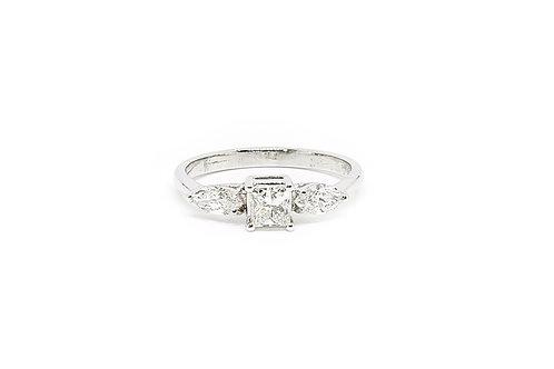 Princess and Marquise Cut Diamond Ring