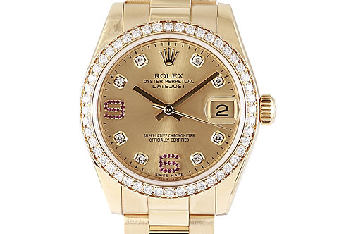 Rolex Datejust President Full Gold with Champagne Diamond Dial 31mm