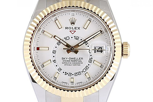 Rolex Sky Dweller White Dial 42mm Steel& Yellow Gold