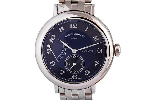 Eberhard & Co 8 Jours Blue Dial 40mm Steel