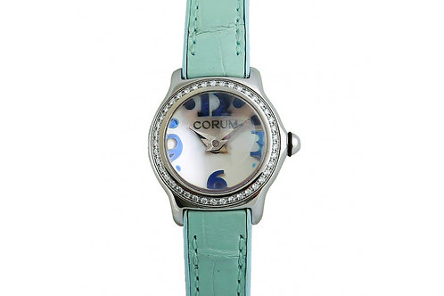 Corum Bubble Mother of Pearl Dial 24mm Steel & Diamonds