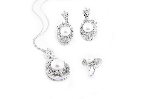 Pearl Pendant Earring and Ring