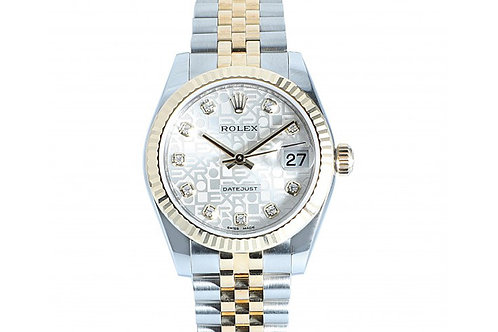 Rolex Datejust Silver Jubilee Dial With Diamonds 31mm Steel & Yellow Gold