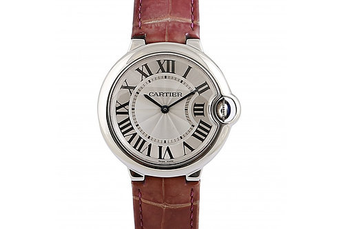Cartier Ballon Bleu White Dial 36mm Steel